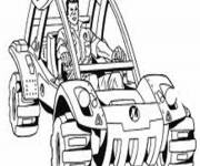 Free coloring and drawings 4 X 4 racing to download Coloring page