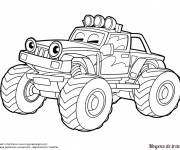 Free coloring and drawings 4 X 4 racing with eyes Coloring page
