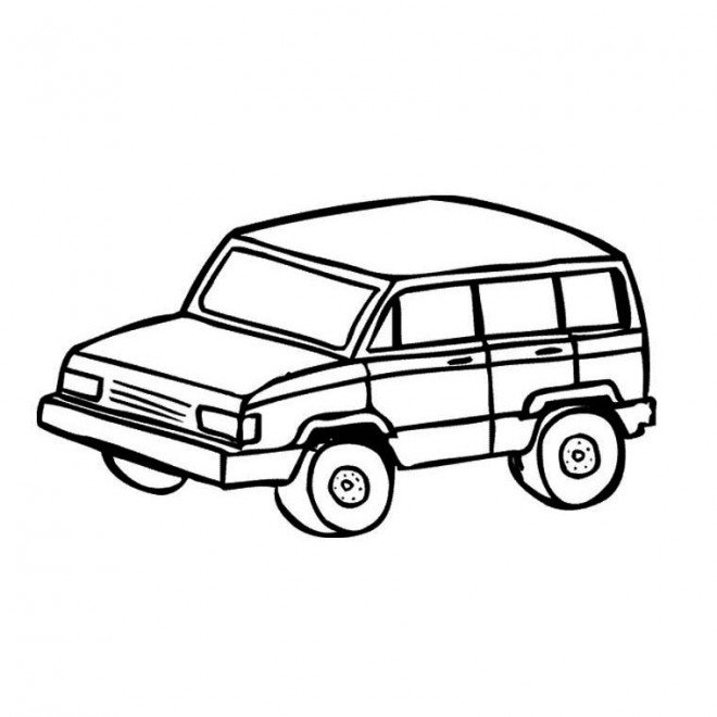 Free coloring and drawings 4 X 4 simple Coloring page