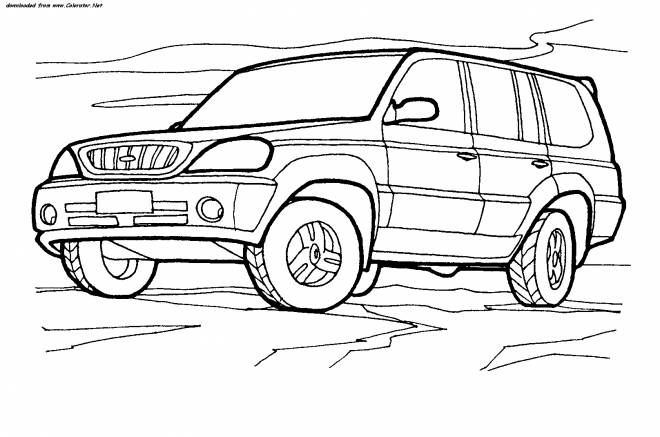 Free coloring and drawings 4 X 4 vector Coloring page