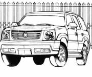 Free coloring and drawings Stylized 4 X 4 Coloring page
