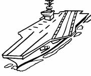 Coloring pages A simple aircraft carrier