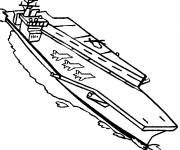 Free coloring and drawings Aircraft carrier online Coloring page