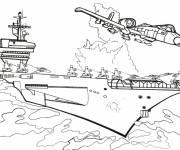 Coloring pages Color Aircraft Carrier