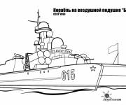 Coloring pages Russian aircraft carrier