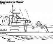 Coloring pages Soviet aircraft carrier