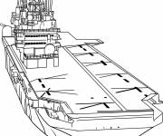 Free coloring and drawings War Aircraft Carrier Coloring page