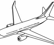 Coloring pages Airplane front view