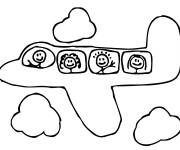 Coloring pages Children's plane