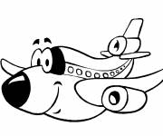 Coloring pages Funny plane