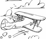 Coloring pages Old plane