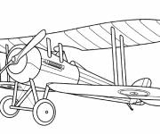Coloring pages World war plane