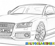 Coloring pages Audi A4
