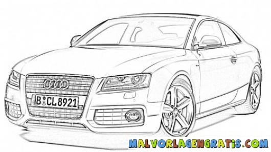 Free coloring and drawings Audi A4 Coloring page