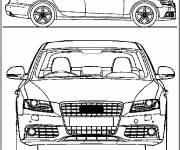 Coloring pages Audi A4 front view