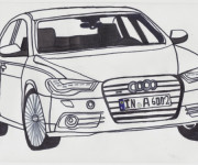 Coloring pages Audi A6