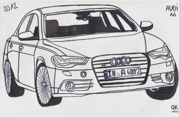 Free coloring and drawings Audi A6 Coloring page