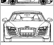 Coloring pages Audi cabriolet