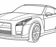 Coloring pages Audi car in color