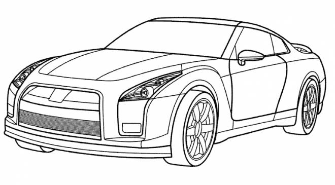 Free coloring and drawings Audi car in color Coloring page