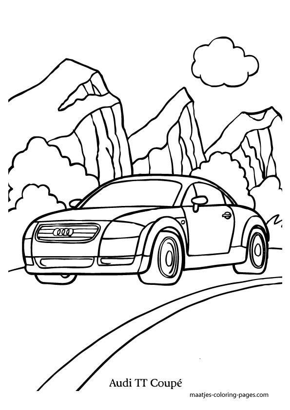 Free coloring and drawings Audi car model Coloring page
