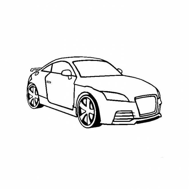 Free coloring and drawings Audi color Coloring page