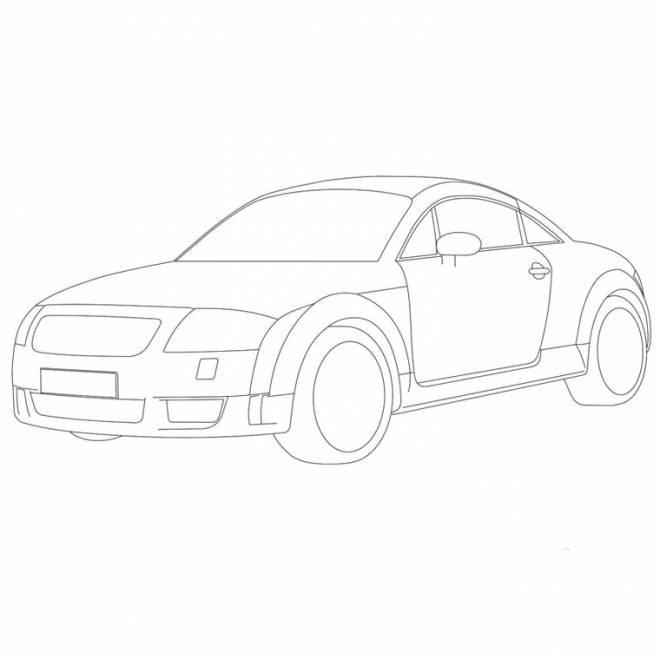 Free coloring and drawings Audi coloring Coloring page