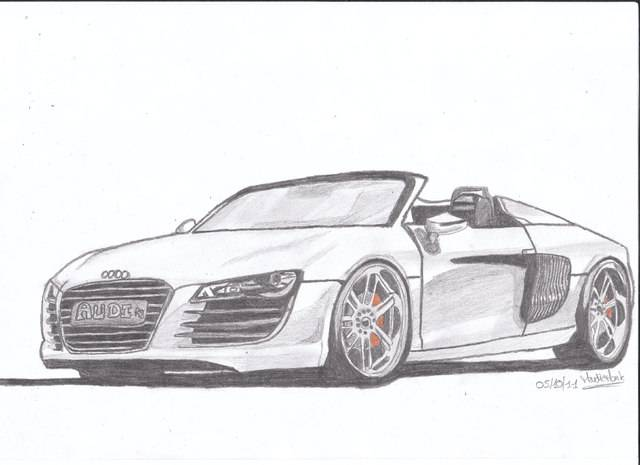 Free coloring and drawings Audi convertible Coloring page