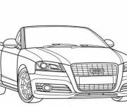 Coloring pages Audi convertible in black and white