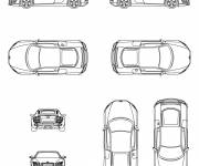 Coloring pages Audi different views