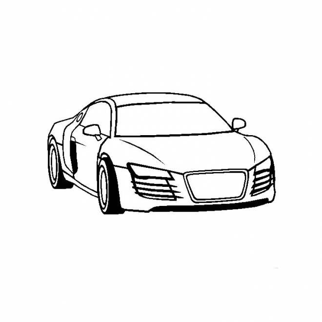 Free coloring and drawings Audi easy Coloring page