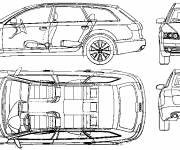 Coloring pages Audi Exterior and Interior