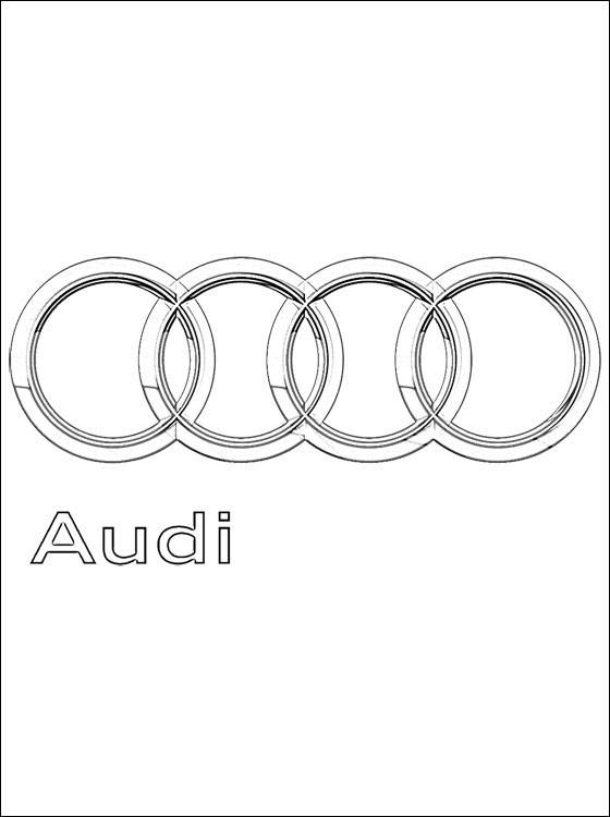 Free coloring and drawings Audi logo Coloring page
