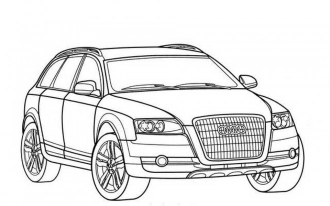 Free coloring and drawings Audi Q7 Coloring page