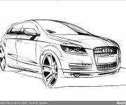 Coloring pages Audi q7 in color