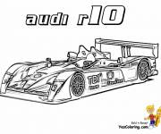 Coloring pages Audi R10 racing
