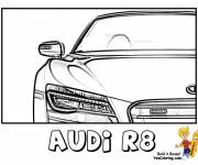 Coloring pages Audi R8 front view