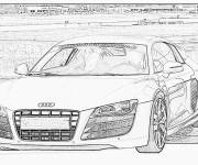 Coloring pages Audi R8 on computer