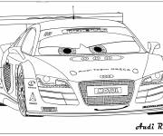 Coloring pages Audi R8 racing