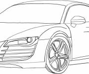 Coloring pages Audi R8 to cut