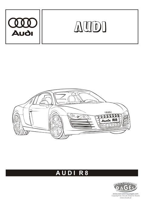 Free coloring and drawings Audi R8 to decorate Coloring page