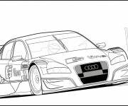 Coloring pages Audi racing to download