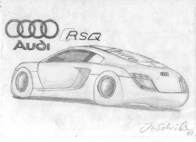 Free coloring and drawings Audi RSQ in pencil Coloring page