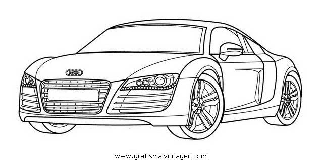 Free coloring and drawings Audi sports Coloring page