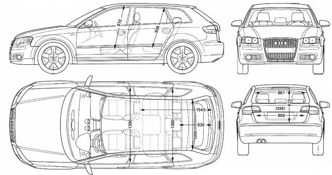 Free coloring and drawings Audi technical drawing Coloring page