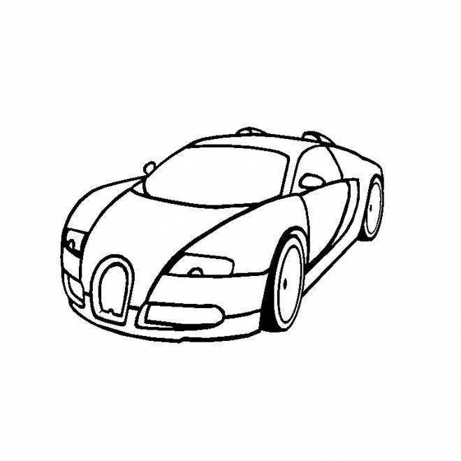 Free coloring and drawings Bugatti Veyron car Coloring page