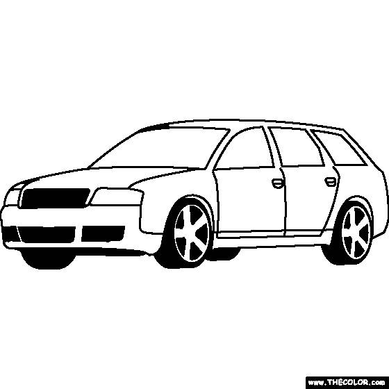Free coloring and drawings Classic audi Coloring page
