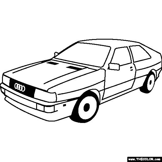 Free coloring and drawings Old Audi Coloring page