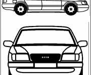 Coloring pages Old Audi car model
