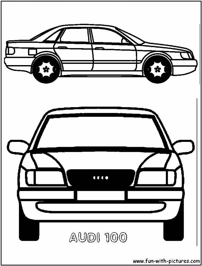 Free coloring and drawings Old Audi car model Coloring page